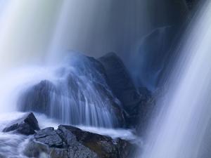 Sweden, Waterfall Ristafallet at Jarpen, Detail by K. Schlierbach