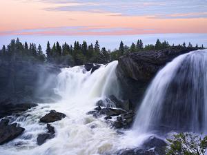 Sweden, Waterfall Ristafallet at Jarpen, Sky by K. Schlierbach