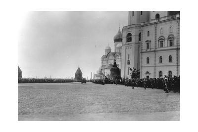 Passage of the Tsar's Family in the Kremlin, Moscow, 1912