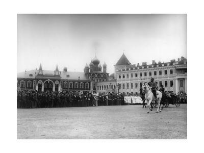 The Chudov Monastery in the Moscow Kremlin During the Visit of Tsar Nicholas II, 1912