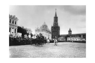 Tsar Nicholas II Reviewing the Parade of the Pupils of Moscow in the Kremlin, Russia, 1912