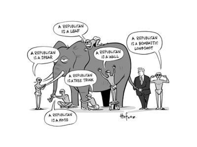 Blind Republicans - Cartoon