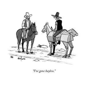 """I've gone hayless."" - New Yorker Cartoon by Kaamran Hafeez"