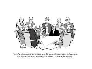 """""""Let the minutes show the senator from Vermont takes exception to the phra?"""" - Cartoon by Kaamran Hafeez"""