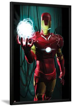 Ultimate Comics Ultimates No.3 Cover: Iron Man with Energy by Kaare Andrews