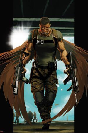 Ultimate Comics Ultimates No.7 Cover: Falcon Walking