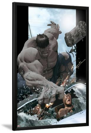 Ultimate Comics Ultimates No.8 Cover: Hulk Smashing