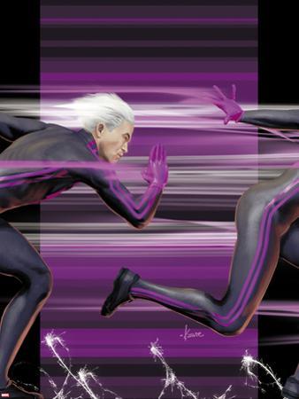 Ultimate Comics X-Men No.4 Cover: Quicksilver Running