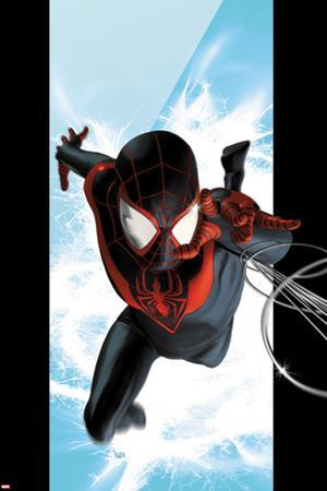 Ultimate Spider-Man No.1 Cover: Spider-Man Swinging