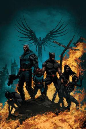 X-Force/Cable: Messiah War No.1 Cover: Wolverine, Cable, Archangel, X-23, Domino and Hope by Kaare Andrews