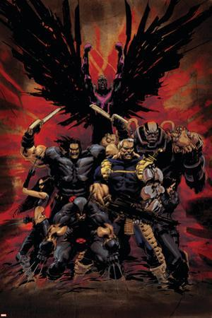 X-Force No.16 Cover: Wolverine, X-23, Cable, Warpath, Apocalypse and Archangel