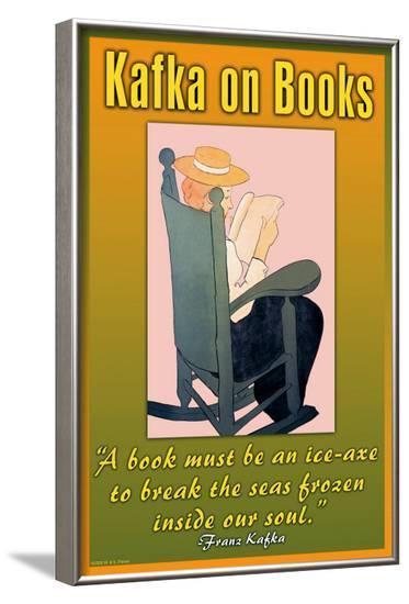 Kafka on Books--Framed Art Print