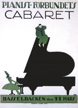 Pianist Forbundets Cabaret by Kage
