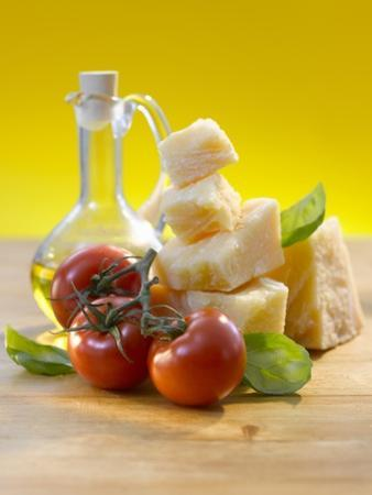 Tomatoes, Basil, Parmesan and Olive Oil by Kai Schwabe