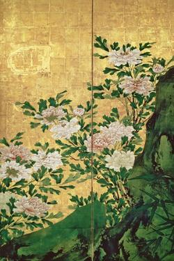 Detail of Flowers by Kaiho Yusho
