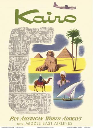 Kairo (Cairo) Egypt - via Beirut with Clipper Planes - Cheops Pyramid