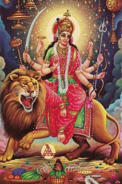 Kali Riding Lion