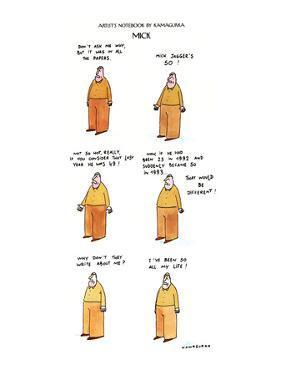 MICK - New Yorker Cartoon by Kamagurka