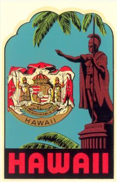 Kamehameha Statue, State Seal, Hawaii