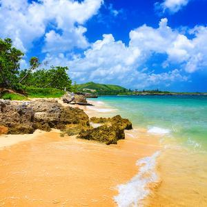 Beautiful Beach Surrounded by Mountains in Cuba by Kamira