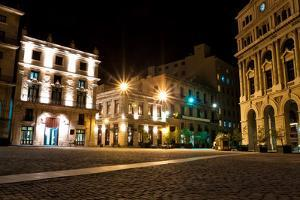 The Square of San Francisco in Old Havana at Night by Kamira