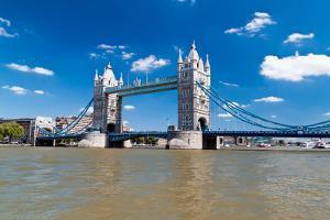 Tower Bridge in London in a Beautiful Summer Day by Kamira