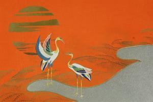 Birds at Sunset on the Lake, 1903 by Kamisaka Sekka