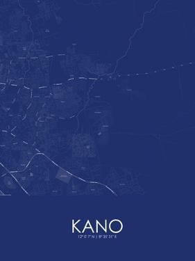 Kano, Nigeria Blue Map