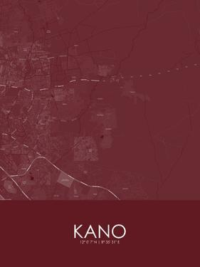 Kano, Nigeria Red Map