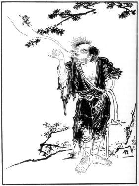 The Rishi Li Tieh-Kwai Despatching His Spirit to the Mountains of the Immortals, 17th Century by Kanô Tan'yû