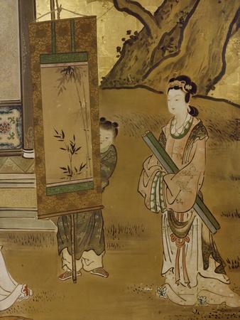 Elegant Pastimes, Painting, Screen