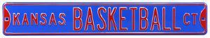 Kansas Basketball Ct Steel Sign