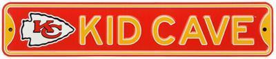 Kansas City Chiefs Steel Kid Cave Sign