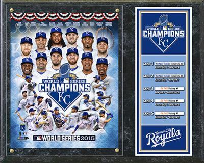 Kansas City Royals 2015 World Series Champions Composite Plaque