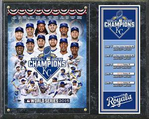 Kansas City Royals 2015 World Series Champions Composite Plaque