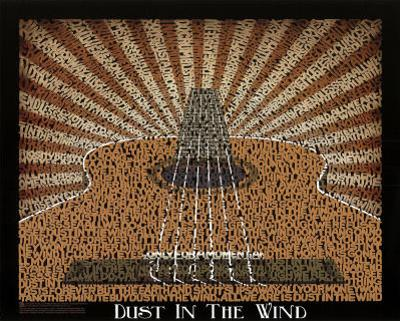 Kansas (Dust in the Wind Lyrics) Music Poster Print