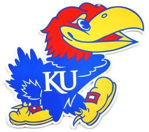 Kansas Jayhawks Lasercut Steel Logo Sign