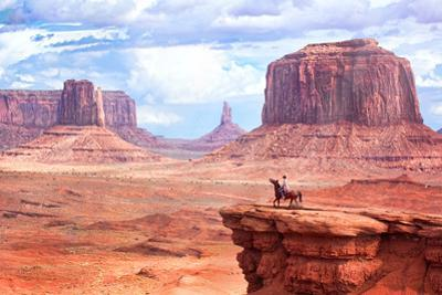 Cowboy in Monument Valley by Kantor