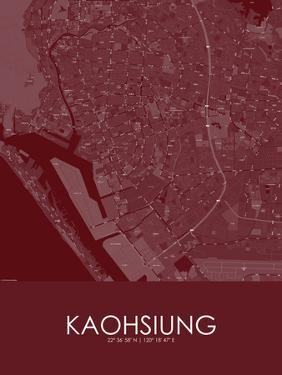 Kaohsiung, Taiwan, Republic of China Red Map