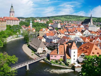Town Cesky Krumlov (Unesco), South Bohemia, Czech Republic by kaprikfoto