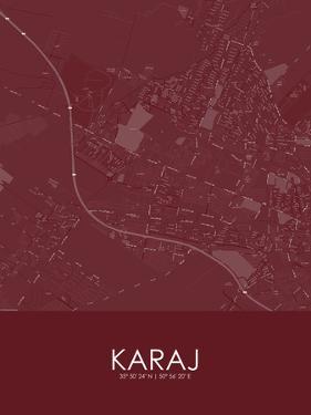 Karaj, Iran, Islamic Republic of Red Map