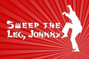Karate Kid Movie Sweep the Leg Johnny Plastic Sign