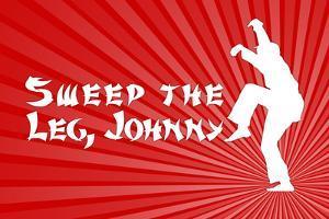 Karate Kid Movie Sweep the Leg Johnny Poster Print