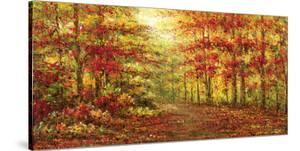 Autumn Path in Gogh by Karel Andries