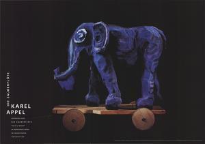 Die Zauberflote (Magic Flute), Elephant by Karel Appel