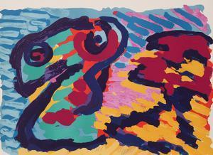 Untitled - Snake by Karel Appel