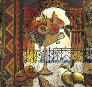 Golden Kilim II by Karel Burrows