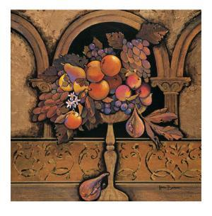 Memories of Provence, Grapes and Persimmons by Karel Burrows