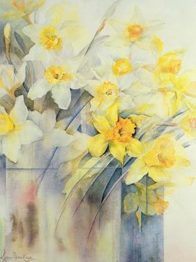 Mixed Daffodils in a Tank by Karen Armitage