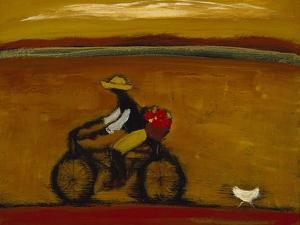 Man on Bicycle by Karen Bezuidenhout